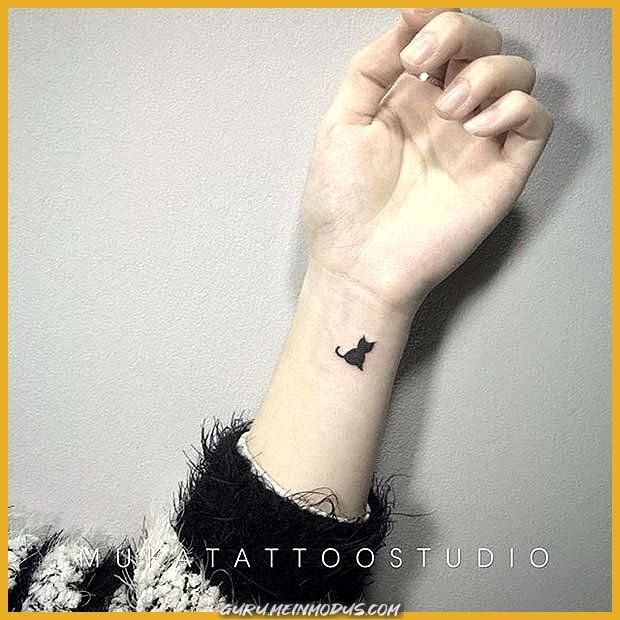 Stilvollsten Handgelenk Tattoo Ideen Pro Frauen Schwarze Katze