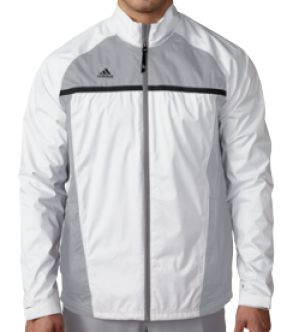 Chaqueta de golf Adidas Climastorm® Essentials Packable Rain. Cazadora Adidas impermeable, perfecta para llevar al campo de golf. Se puede doblar y guardar en la bolsa.