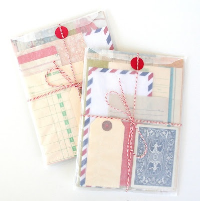 Vellum gift envelopes.
