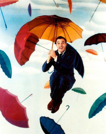 "Gene Kelly in the movie ""Singing in the Rain"""