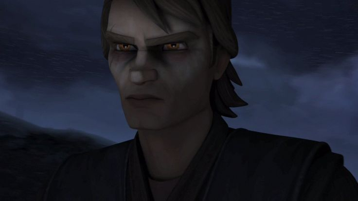 I thought Anakin looked really cool with his yellow eyes ...