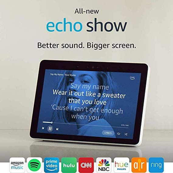 Can You Watch Netflix On Echo Show All New Echo Show 2nd Gen Premium Sound And A Vibrant 10 1 Hd Screen Sandstone Alexa App Alexa Home Amazon Devices