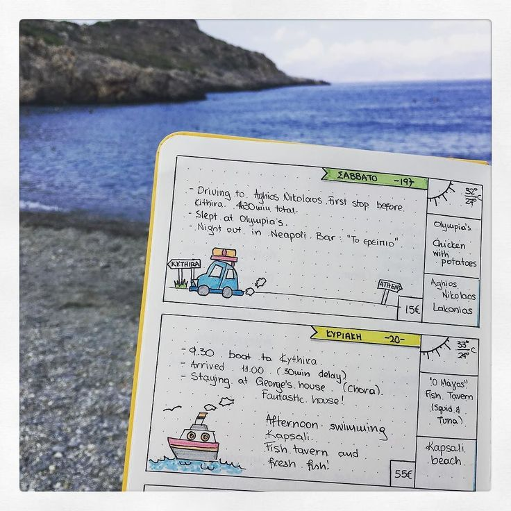 Vacation bujo: second day arriving at Kythira! By boat! I think this layout is helpful and decided to colour my doodles!   #BujonCoffee #GreekBujo #BujoGR #BujoGreece #BulletJournalGreece #bulletjournal #bulletjournaljunkies #bulletjournaling #bulletjournallove #bulletjournalcommunity #wearebujo #bujoinspo #bujogirl  #bulletjournalcollection #bujo #bujojunkies #bujolove #bujonewbie #bujolife #bulletjournalnewbie #bujoinspire #scribblesthatmatter #travelbujo #bujospread #summer2017 #kythira