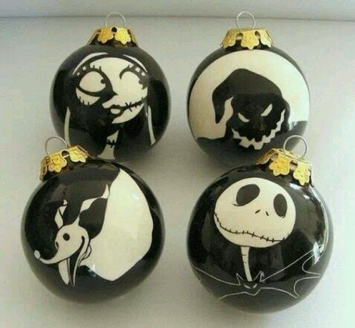 Nightmare Before Christmas Ornaments - X-Mas