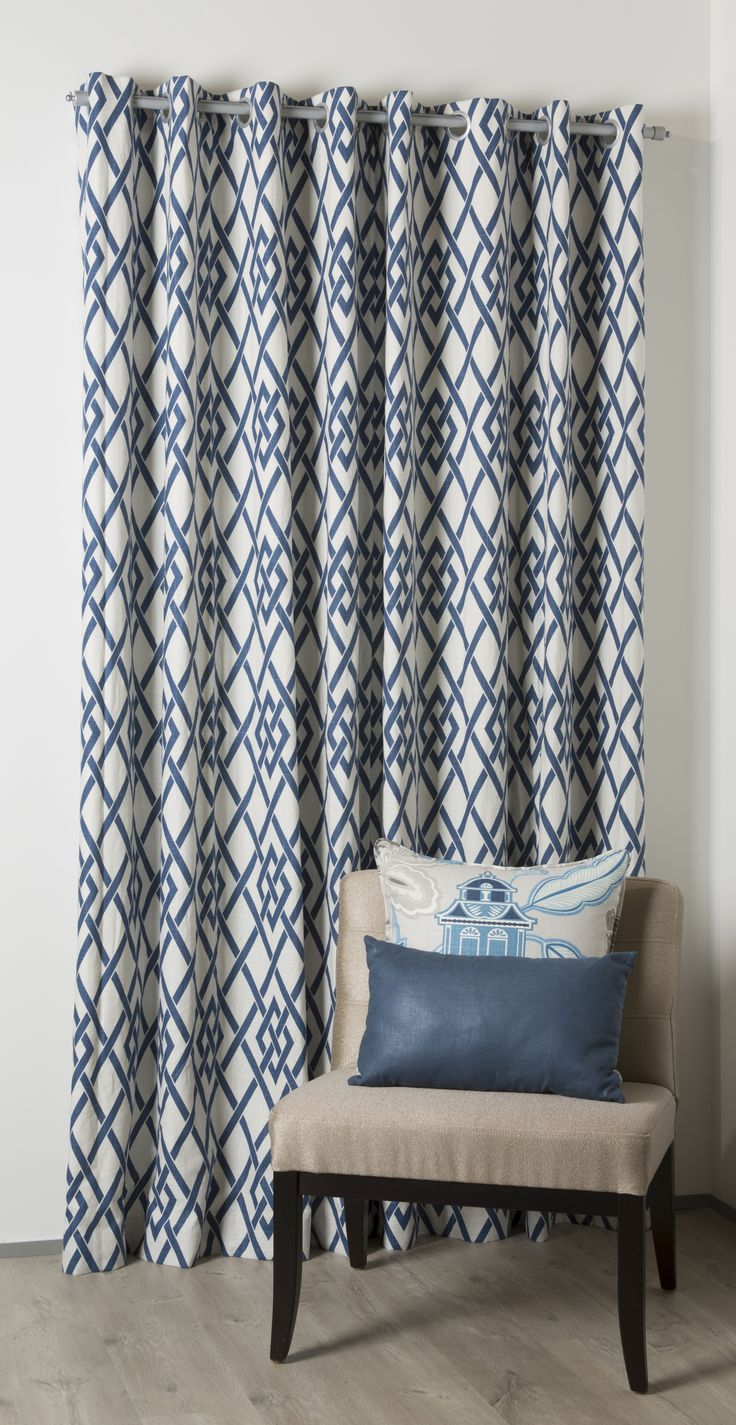 """Eyelet curtains are made in """"Akira"""". www.lahood.co.nz"""