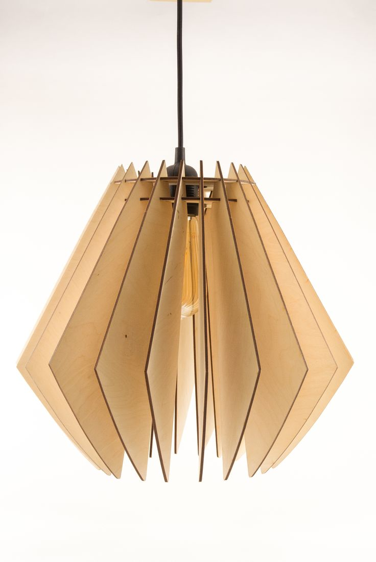 Modern Wooden Pendant Light Contemporary Chandelier Lighting Hanging Dining Lamp Minimalistic Ceiling Fixture Geometric