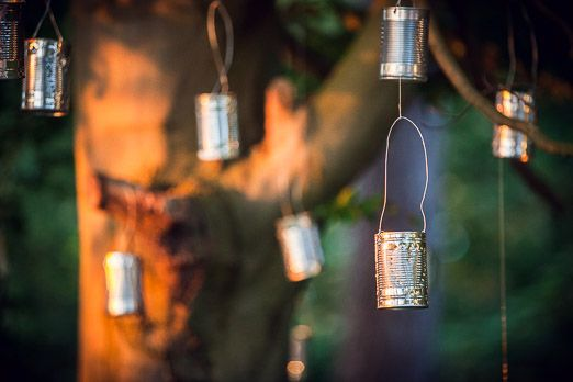 DIY tin can lanterns // photography www.andyhook.com/