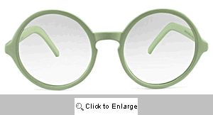 Maddy Big Round Readers Glasses - 553R White