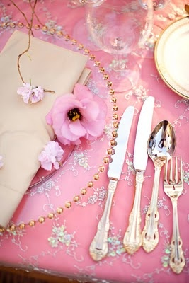 Pink Wedding Ideas. Pink Tablescape