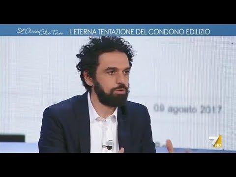 Dino Giarrusso a L'aria che tira 12/2/2018