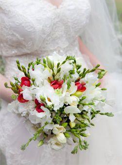 Scented Freesia Wedding Bouquet www.tallulahandrose.com