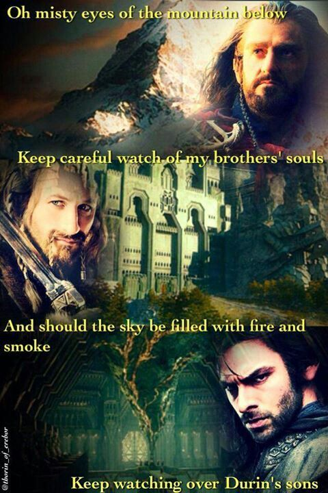 Thorin *FiLi * KiLi I remember hearing the beginning of this song in the theater at the end of the movie but I didnt really listen to it and then I looked it up later and was  actually listening to it and bawled like a baby for an hour..I need helpXD <--don't worry so do i