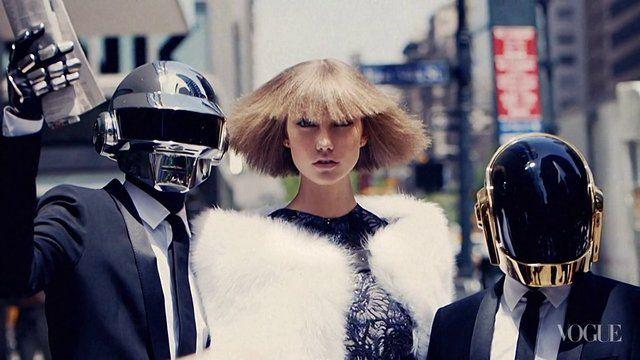 #DaftPunk & #KarlieKloss in #NewYork by 1000 Percent. #Aug #2013 Issue of #VogueMagazine #US