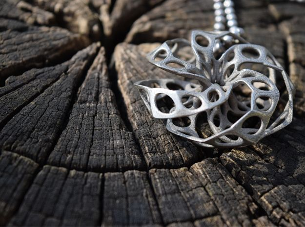 3D Printed Pendant, Stainless Steel #jewellery #3DPrinted