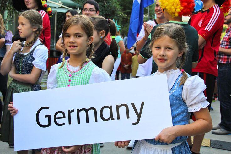 Girls in 'Dirndls'- a traditional german dress @Hongqiao's United Nations Day (Oct, 2015) #scishongqiao #scis #unitednationsday #shanghai