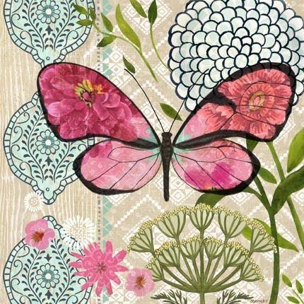 Pink Flower Butterfly Dream by Jennifer Brinley | Ruth Levison Design