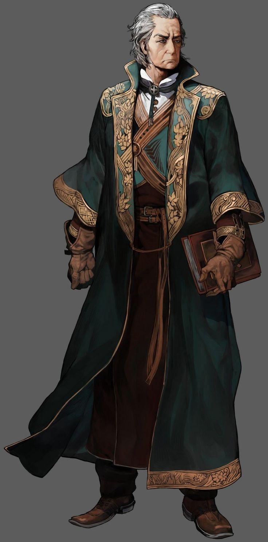 Castlevania: Order of Ecclesia official art - Barlowe_from wikia  Grumpy elf scholar
