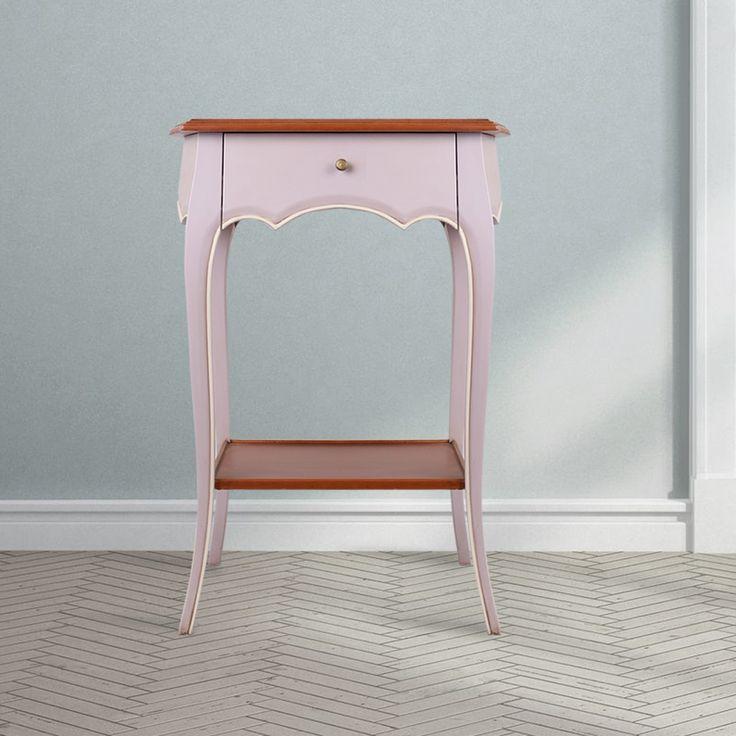 Sebuah meja bergaya Prancis dengan warna Lavender yang terang dan warna coklat dan putih sebagai aksen, meja Oeillet ini sangat cocok untuk melengkapi sudut kosong pada rumah Anda. Kaki ramping dan lengkungan halus dengan fitur tambahan laci dan rak pada bagian bawah, membuat meja kecil mini sangan bermanfaat. Dirancang dengan baik dan menarik, gunakan beberapa meja ini di beberapa bagian pada rumah Anda, akan melengkapi dekorasi bergaya Prancis pada rumah Anda. W-Home adalah sumber dari…