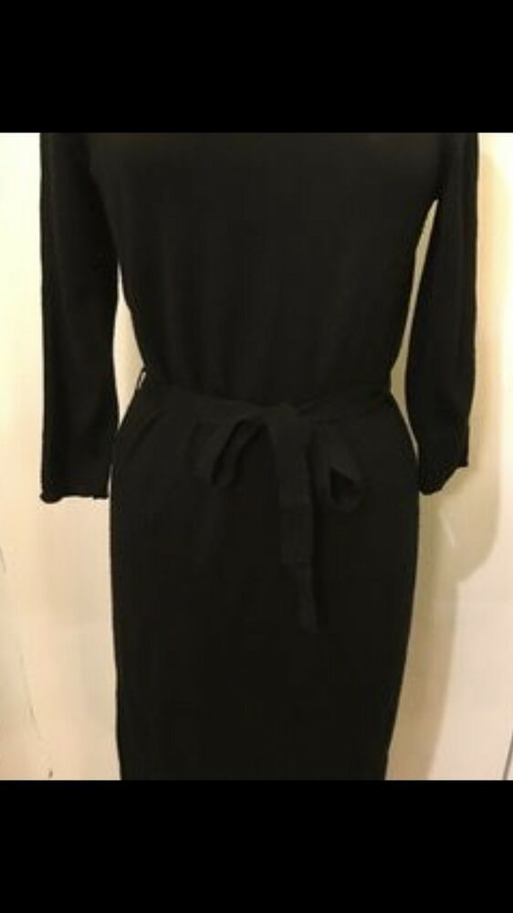 986b33df The Limited Medium Black Cowl Neck Long Sleeves Career Dress With Strap # fashion #clothing #shoes #accessories #womensclothing #dresses (ebay link)