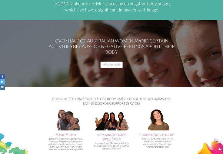 web design for http://www.makeupfreeme.com.au/