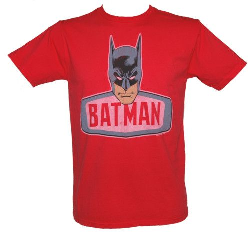 Junk Food Men` Batman Face T-Shirt from Junk Food This iconic Batman tee is a Junk Food classic! It features an oversized print which includes a headshot of the Dark Knight along with his name and doesnt it look wicked against this bright red tee. http://www.comparestoreprices.co.uk//junk-food-men-batman-face-t-shirt-from-junk-food.asp