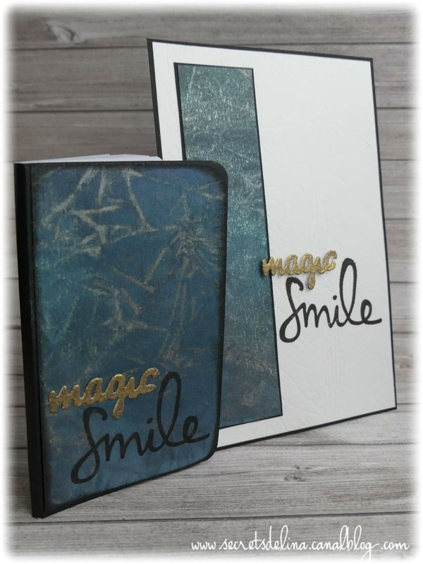 Card carte encre magic smile #secretsdelina