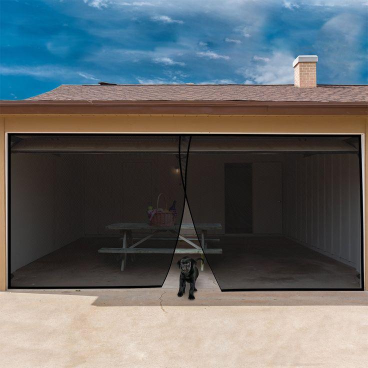 Garage door screen for two car garage heavy duty