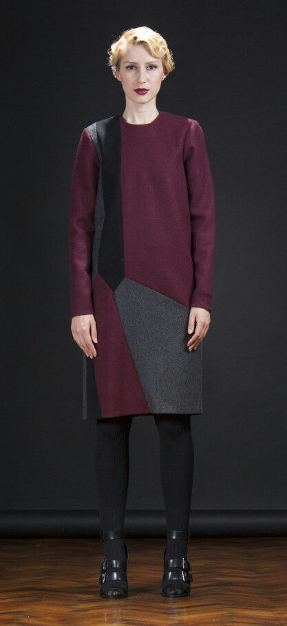 #mydesign #fashion #designer #fallwinter14 #grey #burgundy #black #20sfashion #charleston #geometric #capsule #collection #maradu #lookbook  Photography by: Milan Stojanovic Model: Danijela Ristic