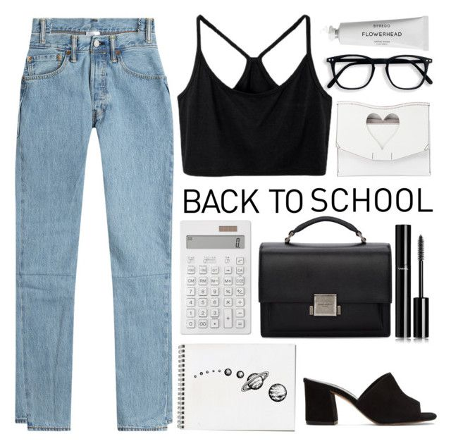 """#16"" by california-calling ❤ liked on Polyvore featuring Vetements, Othermix, Proenza Schouler, Byredo, Muji, Yves Saint Laurent, Chanel, Maryam Nassir Zadeh, BackToSchool and contest"