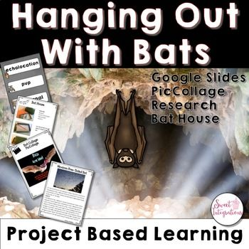 PROJECT BASED LEARNING SCIENCE: Bats With Digital Slides and STEM Activity - Bats are important to our ecosystems. Without bats, our ecosystems will not work. Because bats have such a unique sensory abilities, they can also be studied to learn more about diseases that effect us, like blindness and deafness. This project based learning unit involves 21st Century Learning, science, research, writing, making a video, and STEM. A great PBL unit for your 3rd, 4th, and 5th grade students!