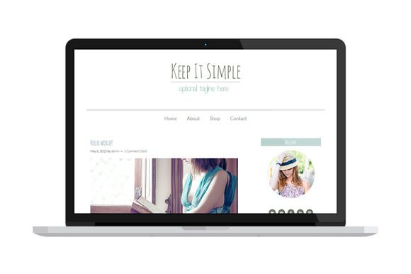 Keep it simple - WordPress Theme by @Graphicsauthor