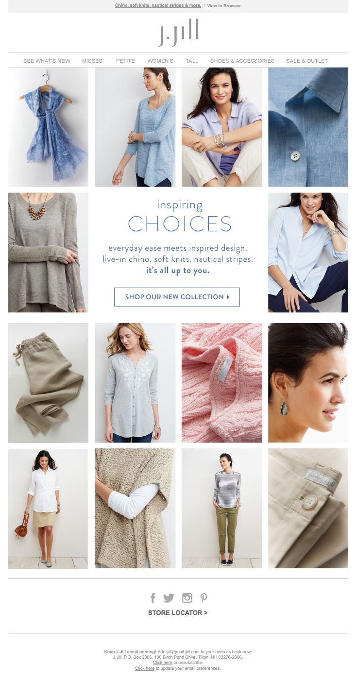 New Arrivals email from J.Jill. #emaildesign #jjill #newarrivals
