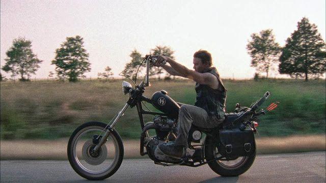 ...Daryl Dixon rides a vintage Triumph chopper motorcycle. Actually it's a Yamaha XS650 frame with a 1965-1970 Triumph Bonneville engine.