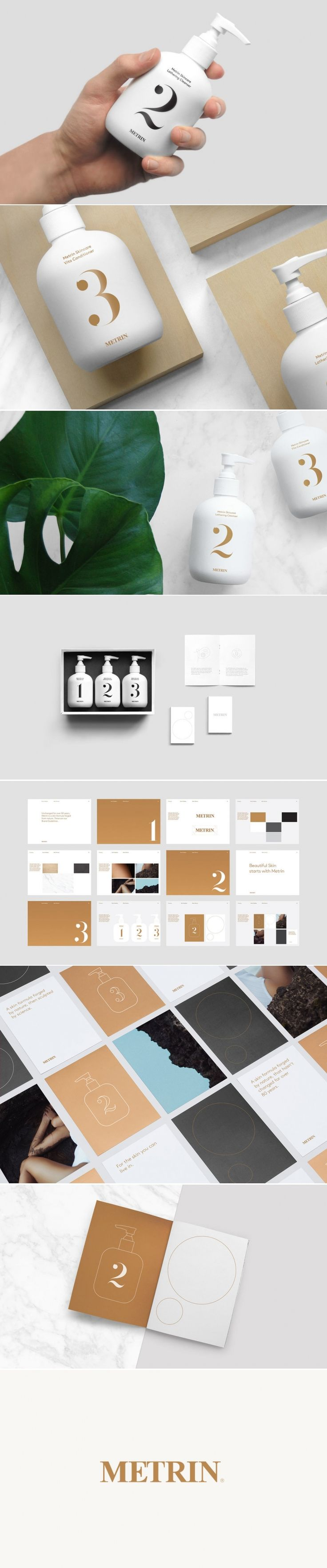 Metrin's Beautiful Minimalistic Skincare Packaging — The Dieline | Packaging & Branding Design & Innovation News