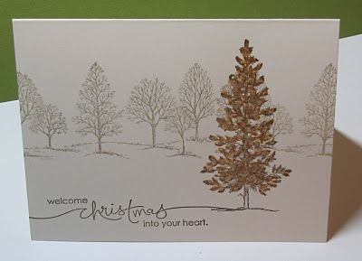 lovely as a tree - fastest card ever! Lovely Christmas card, or use different colors for different seasons