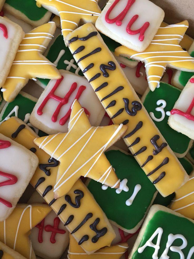 School theme sugar cookies