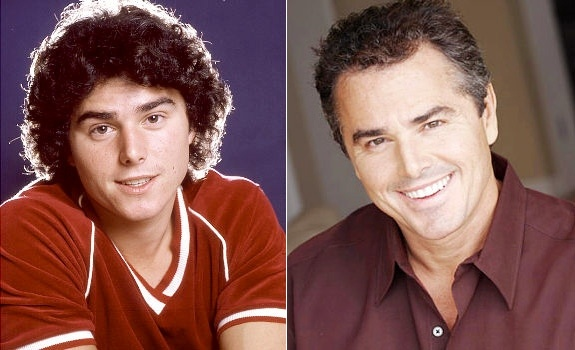 Christopher Knight as Peter Brady on The Brady Bunch, then and now