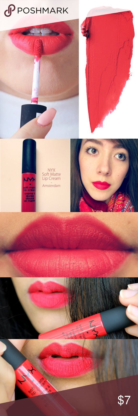 🔅NYX *AMSTERDAM* Soft Matte Lip Cream🔅W/GIFTS🎁 🔅NYX LIP CREAM IN *AMSTERDAM*🔅BRAND NEW & UNOPENED🔅NYXs new velvety smooth matte lip creams deliver a *burst* of creamy color & sets into a stunning matte finish! Surprisingly durable, lightweight & delightfully creamy, its no wonder this sweetly scented formula is an NYX FAN FAVORITE!🔅INCLUDES CUTE FREE NEW GIFTS🔅BUNDLE ONLY 3 ITEMS FOR AN *ADDITIONAL* 15% OFF UR ENTIRE ORDER NOW & GET FREE NYX PRODUCT!!🔅EXPEDITED SHIPPING🔅ASK ME…