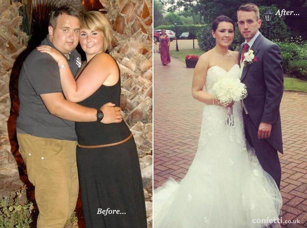 engaged couple decide to lose weight for their wedding daythe results are amazing real weddings pinterest lost weight