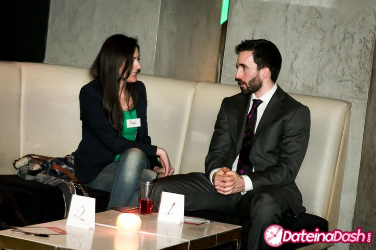 Couple talking during a Speed Date at Funky Buddha in Mayfair.