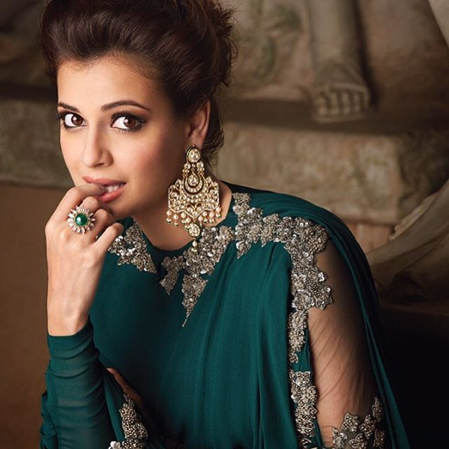 diamirzal looking her gorgeous self in this campaign shoot, wearing Ridhi Mehra…