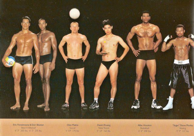 新体操からアメフトまで、究極に最適化されたアスリートたちの体型をスポーツ種別に比較した写真 - DNA