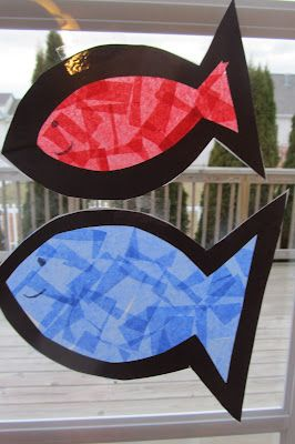 Fish Sun catchers plus several other fish activities great homeschool blog