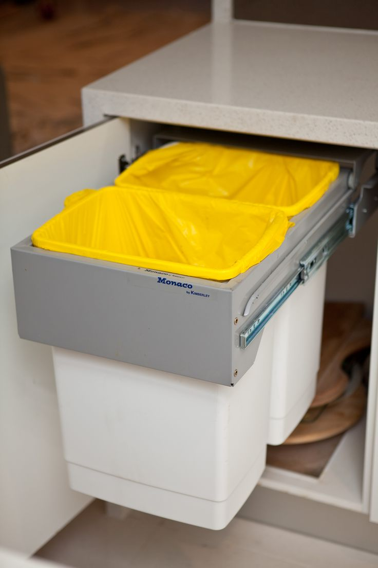 General waste and recycling are all kept out of sight. www.onecallkitchens.com.au