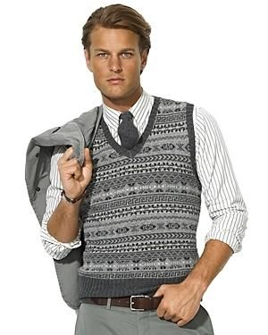 Knitting Pattern For Mens Cardigan Vest : 77 best images about mens knitted vest on Pinterest Vest pattern, Vintage k...