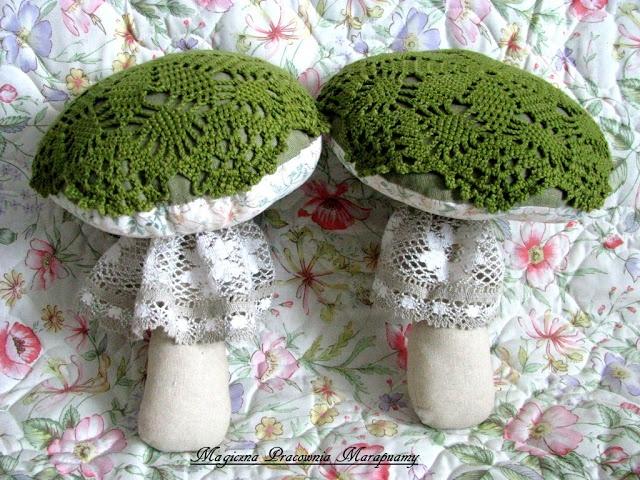 Green mushrooms.