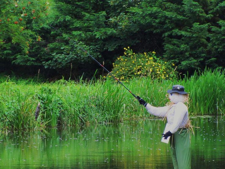 A Scare-fish? Stone Art Blog: All Ireland Scarecrow Championship, Durrow, Co. Laois.