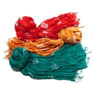 Tie-Dyed Silk Scarves  : These Tie-Dyed Silk Scarves add flare to your outerwear with their lovely tie-dyed pattern.