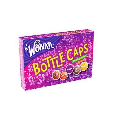 Wonka Bottle Caps sont des bonbons en forme de capsules de bouteilles de soda. Il n'y a pas que leur forme qui rappelle le soda. Ils ont le ...