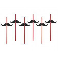 Cannucce mustache (conf. da 6 pz)